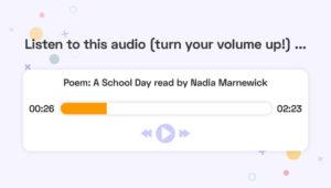 Audio player screenshot
