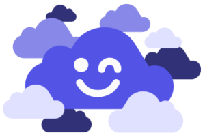 WorksheetCloud Logo in Clouds